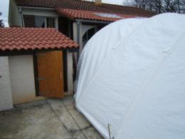 abri de chantier, assurance intempéries, piscine, techniflex