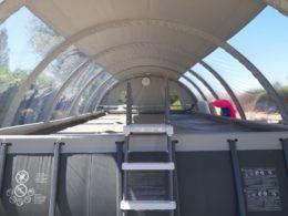 Abri Techniflex sur Piscine Hors sol Intex-vue intérieure